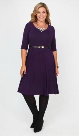3-0414 Violeta kleita ar jostiņu
