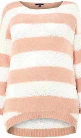 2-0308 Krēmkrāsas un balts džemperis