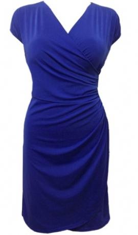 3-0195 Zila kleita ar savilkumu sānā