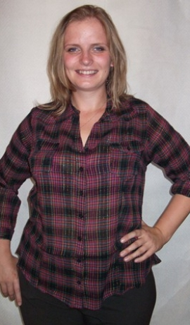 1-0323 Rozā & melns krekls