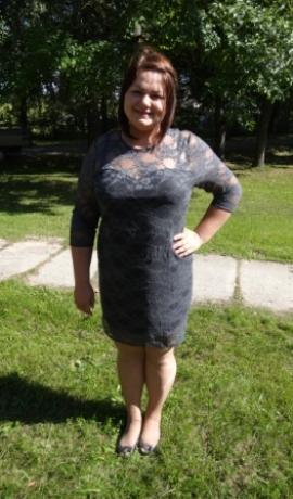 3-0204 Pelēka mežģīņu kleita
