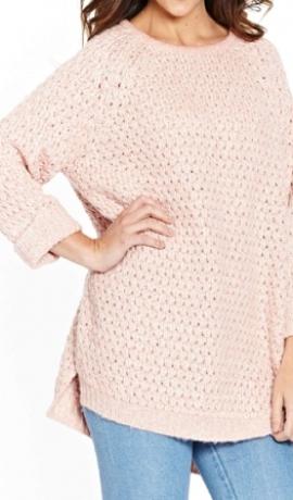 2-0330 Rozā krāsas džemperis