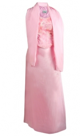 3-0048 Rozā gara kleita