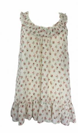 1-0332 Krēmkrāsas puķains topiņš