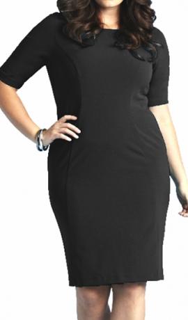 3-0348 Melna pieguļoša kleita