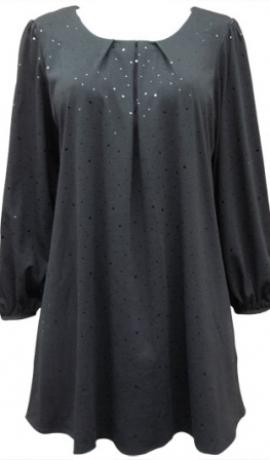 1-0346 Melna tūnika ar spīdumiņiem