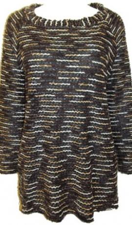 2-0167 Melns & bēšs džemperis