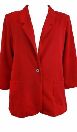 7-0289 Sarkana trikotāžas žakete
