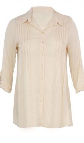 1-0186 Bēšīgi balts garš krekls