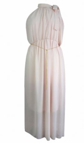3-0165 Maigi rozā kleita ar ķēdīti