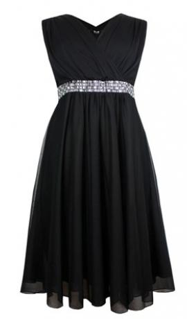 3-0393 Melna kleita ar spīdumiem