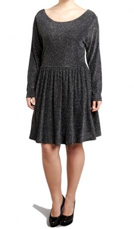 3-0346 Melna spīdīga kleita