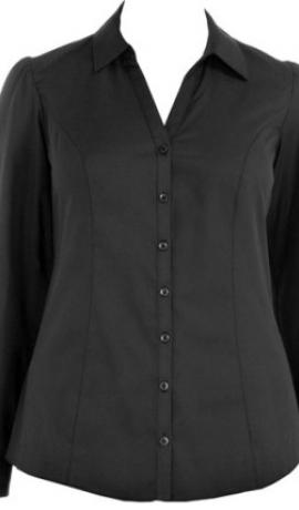 1-0345 Melns krekls ar garām rokām