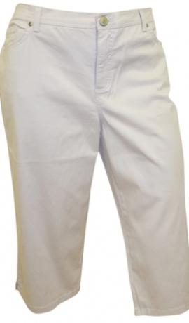 5-0160 Baltas džinsu pusgaras bikses