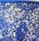1-0386 Zila tunika ar mežģīņu izšuvumiem priekšā un sānos