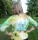2-0237 Zaļu toņu fironzo plāna adījuma džemperītis