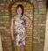 3-0155 Rozā multikrāsas kleita