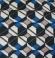 3-0149 Zila & brūna & bēša rombiņraksta kleita