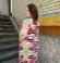 3-0318  Maxi kleita ar asimetriskām krāsainām līnijām